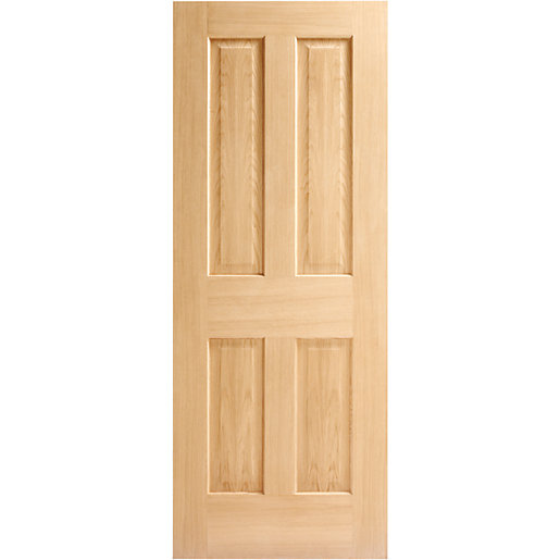 Internal 4 Panel Oak Fire Door 30 Min 1981 x 838 x 44mm