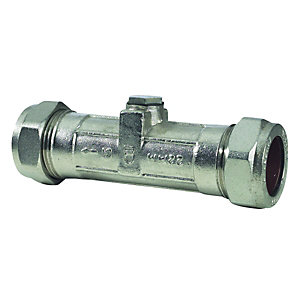 Double Check Valve Chrome Plated 15mm