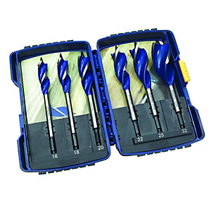 Irwin Blue Groove Wood Boring Bit Pack 6