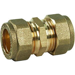 Straight Coupling DZR Compression 22mm