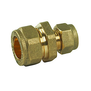 Compression DZR Straight Reducing Coupler 15mm x 10mm - Bag of 10