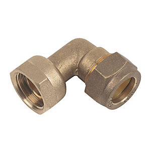 Swivel Bent Tap Connector Compression 15mm x 1/2