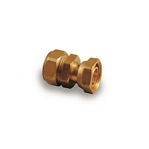 Swivel Straight Tap Connector Compression 15mm x 3/4