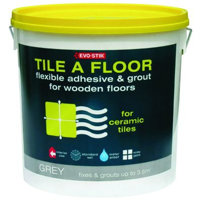 Evo Stik Flexible Tile Adhesive Grout For Wooden Floors 10l