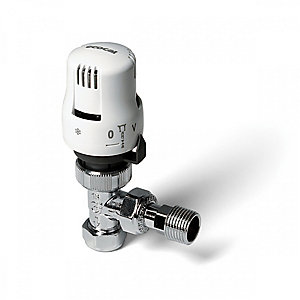 Altecnic 200425 Ltc Ecocal Angled Body TRV White Head 15mm
