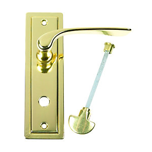 Urfic Como Lever Lock Bathroom Polished Brass Door Handle