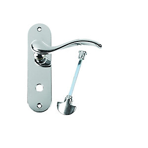 Urfic Geneva Lever Lock Bathroom Polished Nickel Door Handle