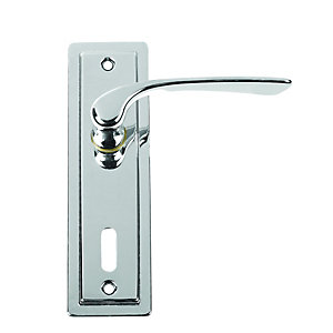 Urfic Como Lever Lock Polished Nickel Door Handle