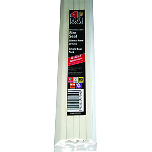 4Fire Intumescent Fire Seal White 10x4mm 2.1m Single Length