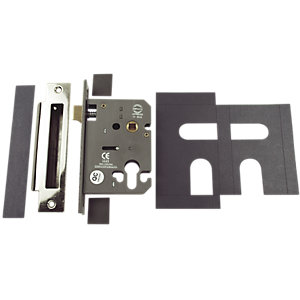 4Fire Euro Profile Sashlock with Plates Stainless Steel 76mm