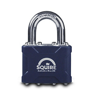 Squire Laminted Padlock Open Shackle 190 x 40 x 100mm