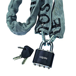 Squire 3536PR Laminated Padlock Cycle and Chain