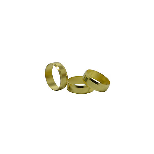 4Trade 22mm Brass Olives (Pack of 10) - 5 Pack Box