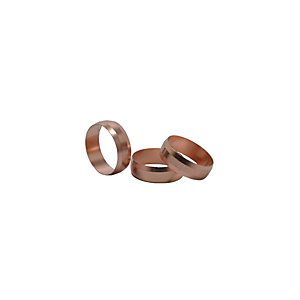 4Trade 22mm Copper Olives (Pack of 10) - 5 Pack Box