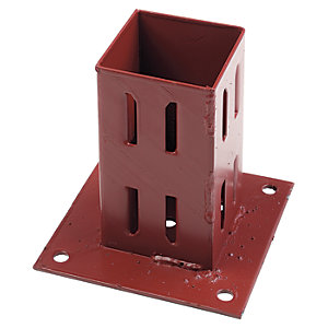 Wickes Erecta Plate Fence Post Support 75mm   Wickes.co.uk
