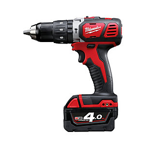 Milwaukee M18BPD-402C 18V Cordless Combi Drill with 2 x 4Ah Batteries