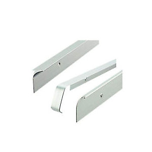Unika 40mm Silver Worktop Aluminium Butt Joint 630mm/6mm Radius T40SLP5MM