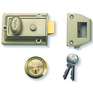 Nightlatch Enb/P Brass Yale P77-ENB-PB-60