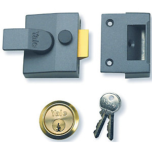Nightlatch Narrow Dmg/Polished Brass Yale P85