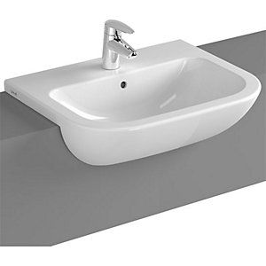 Vitra S20 Semi Recessed 1 Taphole 550mm Basin