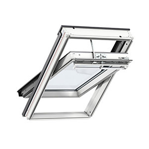 VELUX Integra Electric Centre Pivot Roof Window 1340mm x 980mm White Painted GGL UK04 207021U
