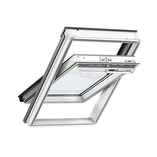 VELUX Centre Pivot Roof Window 550mm x 780mm White Painted GGL CK02 2070