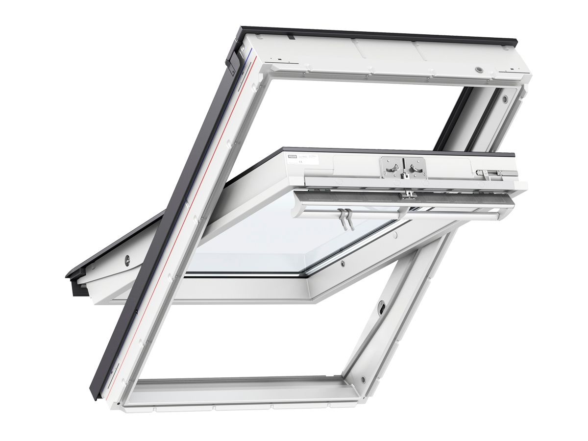 VELUX Centre Pivot Roof Window 1140mm x 1180mm White Polyurethane GGU SK06 0070