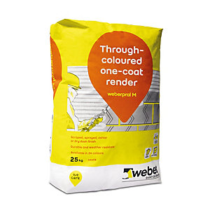 Weber.Pral M Monocouche Silver Pearl Render 25kg (Minimum Order Qty of 10)