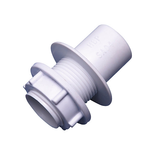 Osma Overflow solvent straight tank connector white 21.5mm