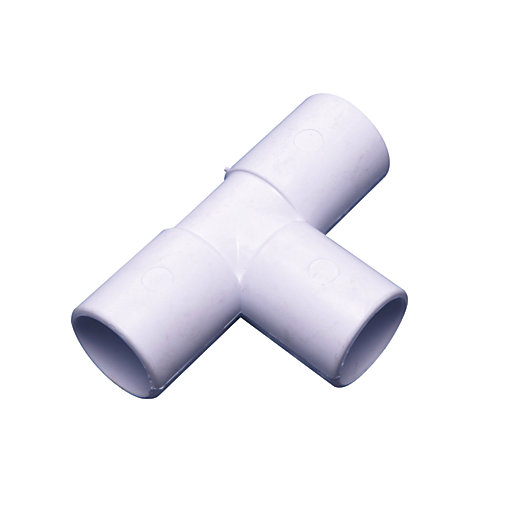 Osma Overflow 90¡ solvent tee white 21.5mm