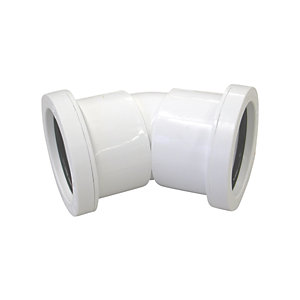 Osma 32mm Pushfit Waste White Bend 45 Deg
