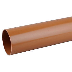 Osmadrain Drainage Plain End Pipe 110mm 6 Meter