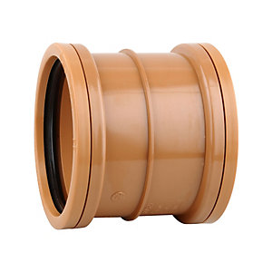 Osmadrain Drainage Double Socket Slip Coupler 110mm