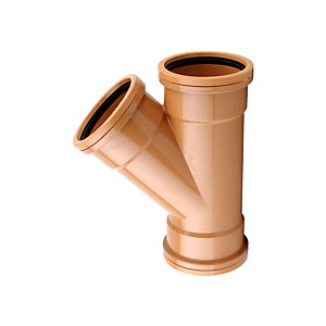 Osmadrain Drainage Equal Junction 45 Degree Double Socket 110mm