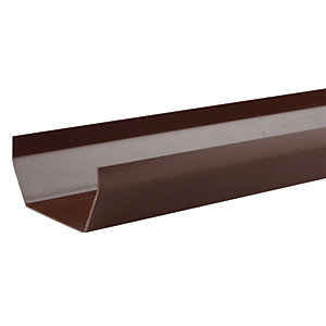 Osma SquareLine 4T874 Gutter 100mm Brown 4M