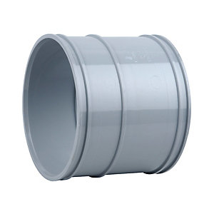 OsmaSoil 4S104G 110mm Solvent Weld Double Socket Grey
