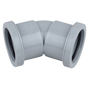 Osma Waste 45¡ push-fit bend grey 32mm