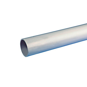 Osma Waste push-fit plain ended pipe grey 40mm