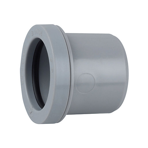Osma Waste push-fit double socket grey 32mm