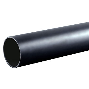 Osma Waste push-fit plain ended pipe black 32mm