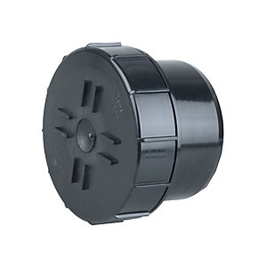 Osmasoil 4S292 Plain Ended Access Plug Black 110mm