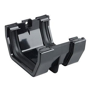 Osma SquareLine 4T805 Gutter Jointing Bracket 100mm Black