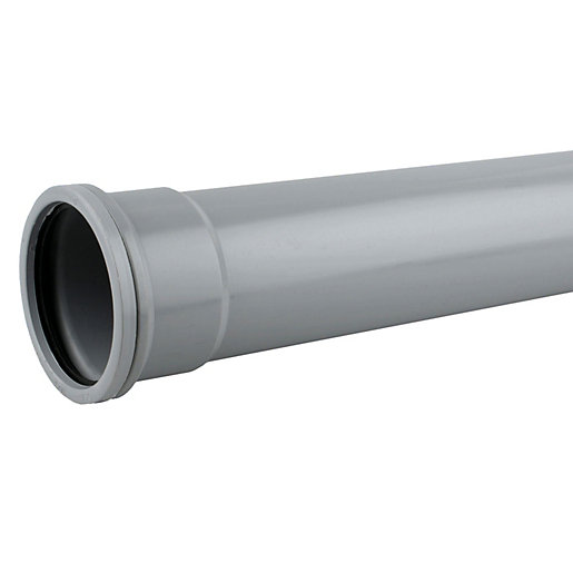 OsmaSoil 4S044G 110mm Socketed Pipe Grey 4M