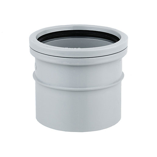OsmaSoil 4S124G 110mm Ring-Seal/Solvent Weld Single Socket Grey