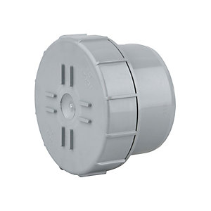 OsmaSoil 4S292G 110mm Plain Ended Access Plug Grey