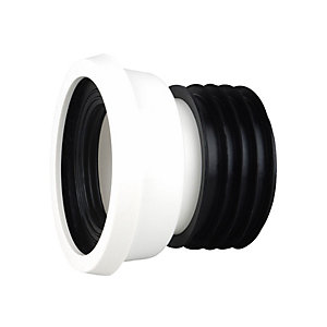 "OsmaSoil WC004W 110mm Easy-Fit Wc Pan Connector Straight 4"" White"""