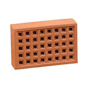 Hepworth Square Hole Airbrick 215 x 140mm Red YA14R