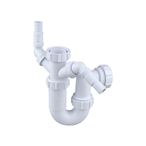 Osma Waste 40mm Adjustable Sink Trap 75mm White