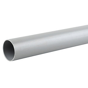 Osma Waste push-fit plain ended pipe grey 50mm