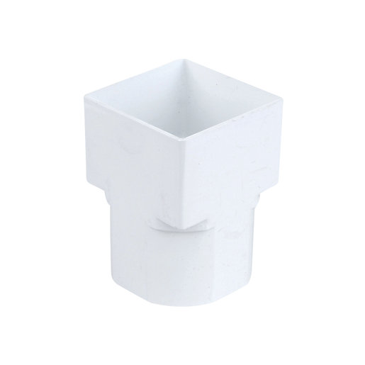 Osma SquareLine 4T836 Drain Adaptor Square To Round 61mm White